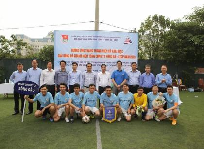 Song Da 5 actively participated in Youth Month 2019 and Youth Football League 2019 of Song Da Corporation
