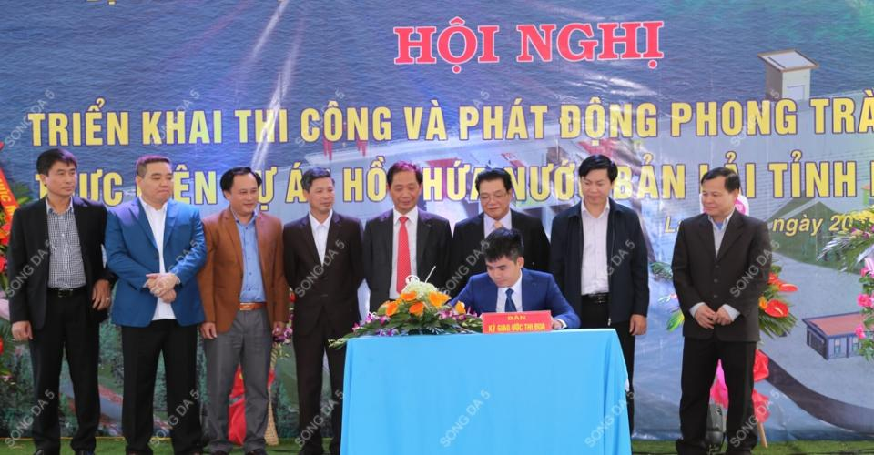 Song Da 5 jointly held the conference of construction implementation and launched the competitive movement of executing Ban Lai Water Reservoir Project in Lang Son province